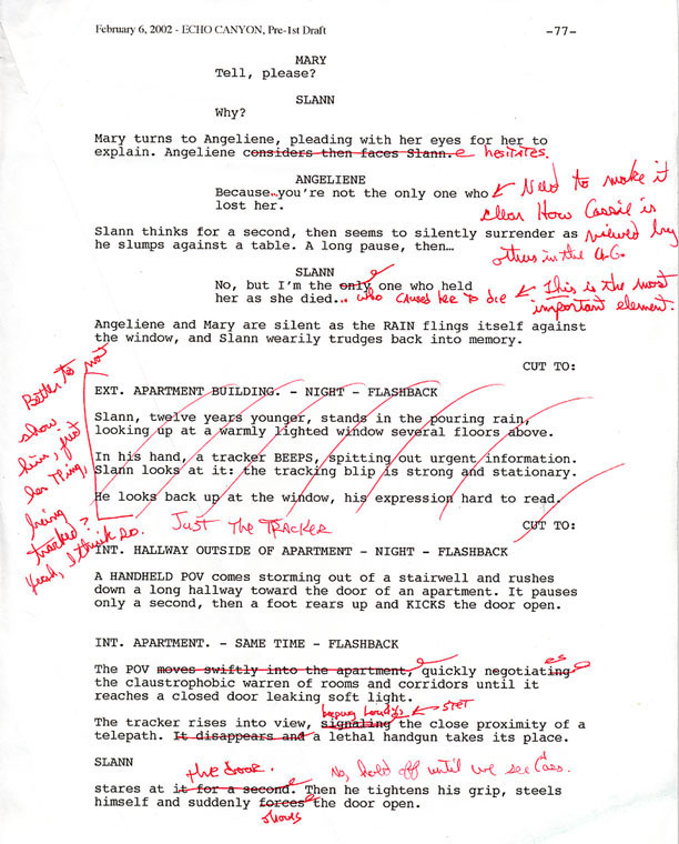 sample of script writing