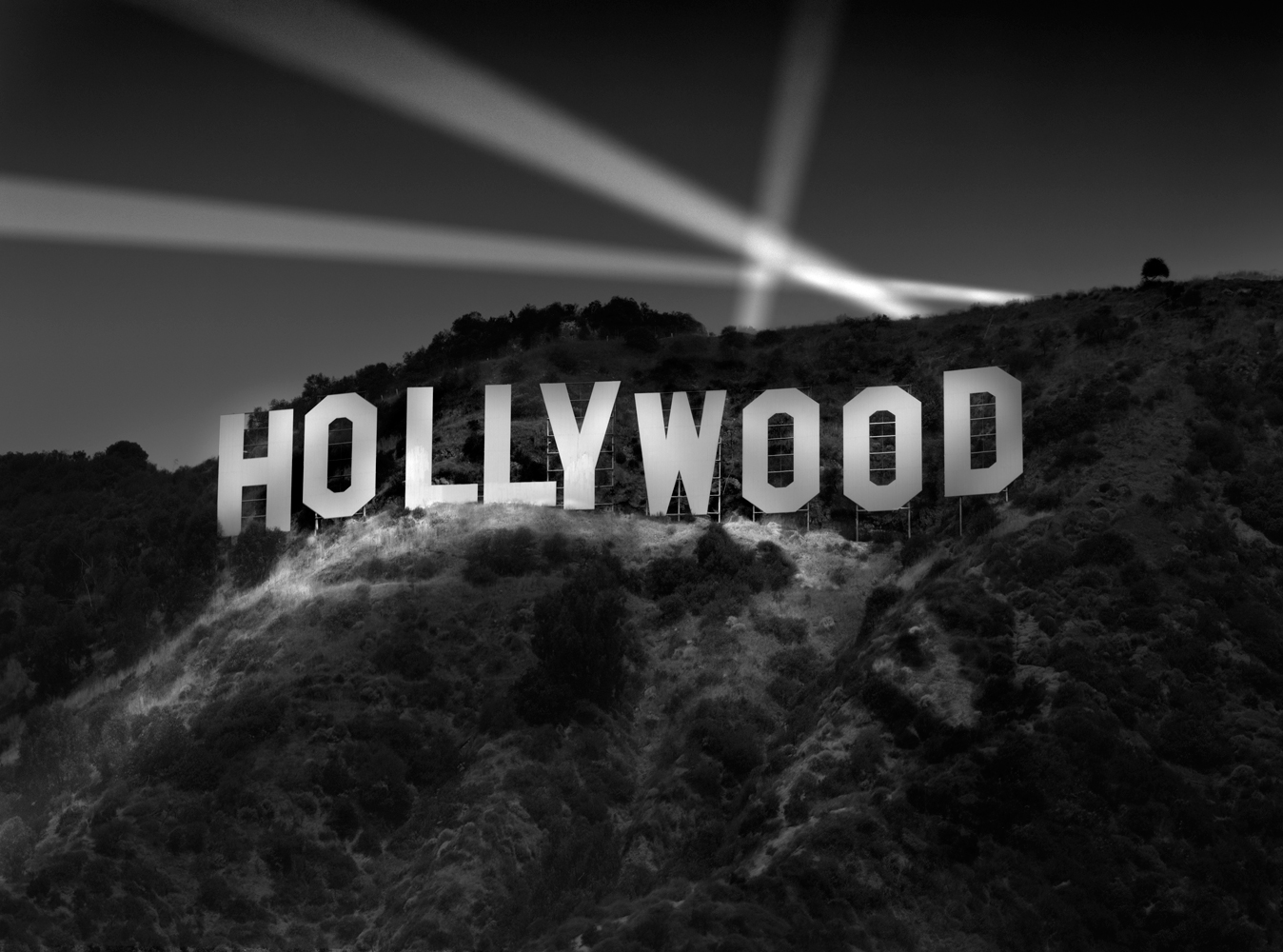 Richard Lund's Photo of the Hollywood Sign At Night